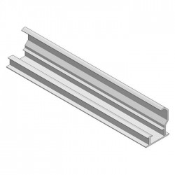 Aluminum insert profile lower H35 L6650 black