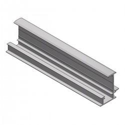 Aluminum insert profile mid H35 L6650 black